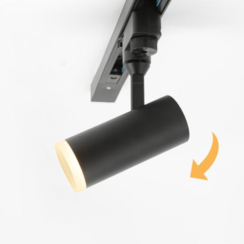 Aisilan Led Spoor Licht 7W Cob Rail Spots Lamp Leds Tracking Armatuur Spot Lichten AC90-260V Voor Art Tentoonstelling, foto Show