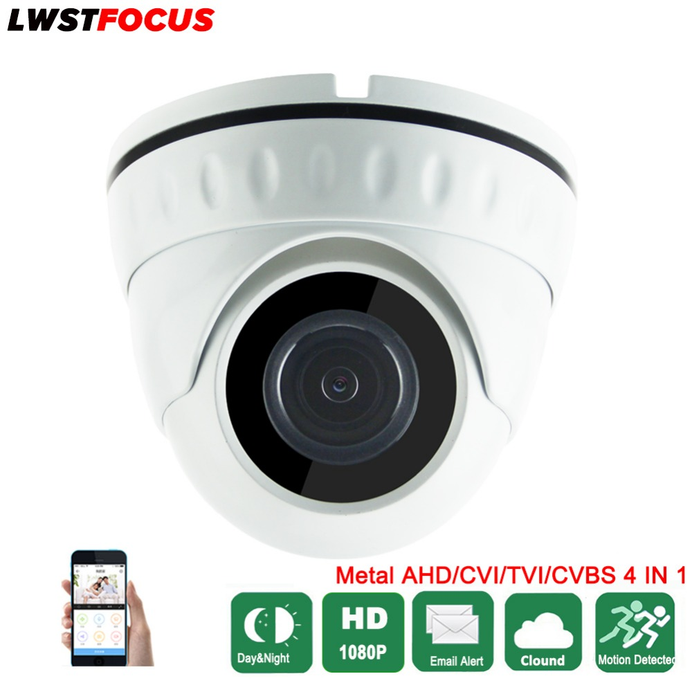 AHD/TVI/CVI 2MP Vandal Proof HD 1080P AHDH Dome Camera 1080p Surveillance Waterproof Outdoor Indoor Camera Night Vision IR Cut hd ahd cvi tvi cvbs bullet camera with alarm speaker waterproof ip67 hd 1080p 4 in 1 security camera outdoor night vision ir 20m