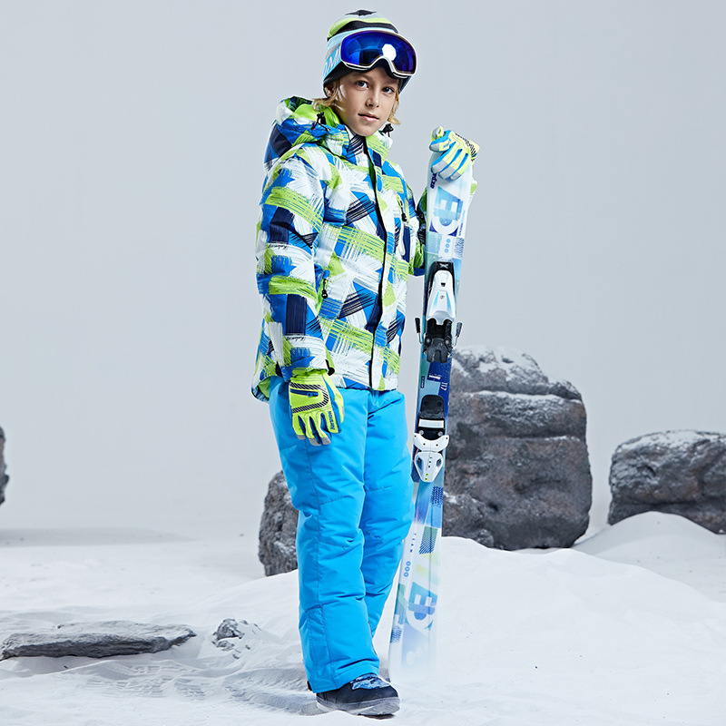 Warm Waterproof Child Ski Suit Heavyweight Boys Outfits Winter Kids Clothes Sets Children Outerwear For 4 16 Years Old in Clothing Sets from Mother Kids