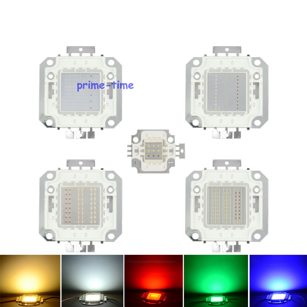Epiled 10W 20W 30W 50W 100W Watt RGB LED Chip Lamp High Power LED Lighting Source High Quality