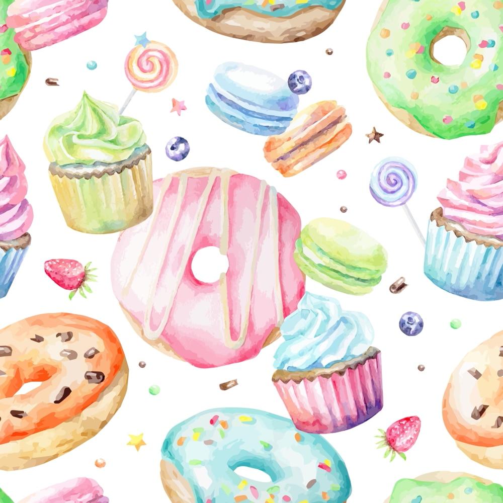Donut Cake Photography Backdrop Baby Birthday Party Shower Studio Photo Props Kid Children Photobooth Background Xt 7110