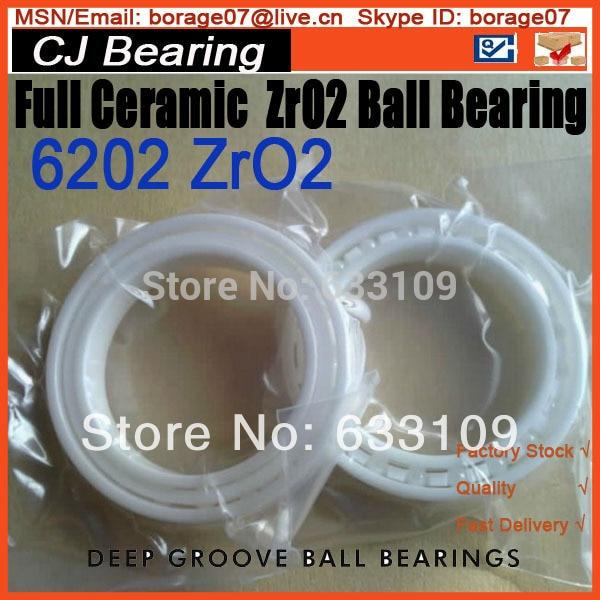 Full ceramic ZrO2 6202 ball bearing 61916 6916 zro2 full ceramic bearing 80x110x16mm