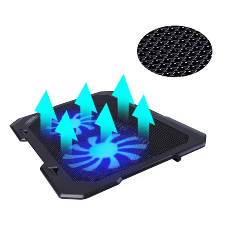 Topmate Laptop Cooling Pad Notebook Stand cooling laptop With 2 Quite Fan & blue LED Lights For 11-15 for