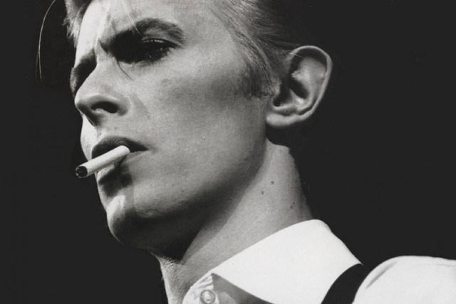 david bowie musicians smng Black & White picture poster