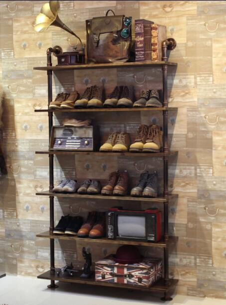 Tieyi clothing store. Shoe rack. Display rack. Shelves for bags. Rack cabinets8003 цены онлайн