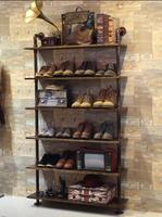 Tieyi clothing store. Shoe rack. Display rack. Shelves for bags. Rack cabinets8003