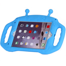 Case For iPad mini 1234 Silicone alien, Kids Cute Shockproof warterproof Soft Portable Protective with Bracket