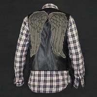 Высокое качество Ходячие мертвецы Косплей dayrl Диксон Крылья Ангела жилетка мотоциклетный жилет