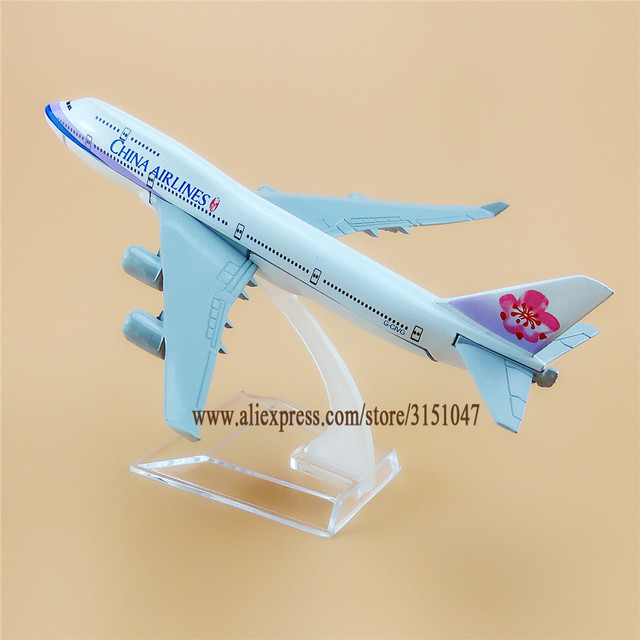 US $9 43 35% OFF Air Taiwan China Airlines B747 Boeing 747 Airways Airplane  Model Alloy Metal Model Plane Diecast Aircraft 16cm Gift-in Figurines &