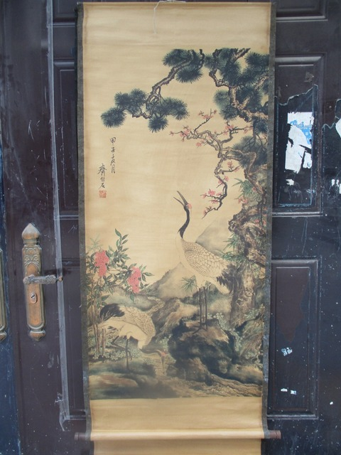 US $38 0 24% OFF|Collection Home wall decoration painting ,Chinese old  paper scroll painting Qi bai shi