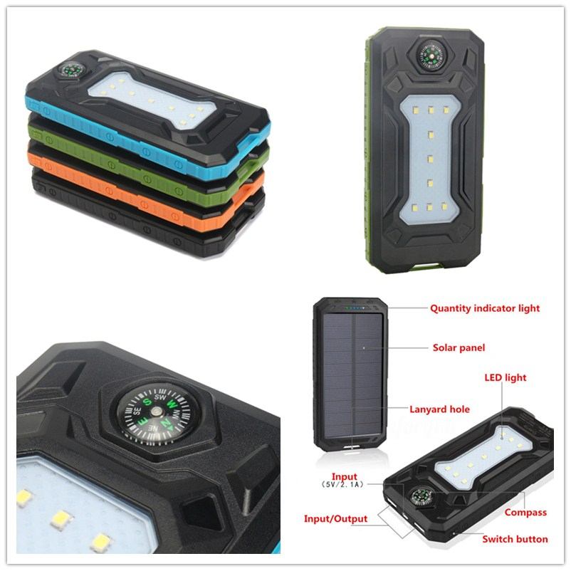 Cellphones & Telecommunications Sporting 1pcs 500000mah Solar Power Bank Double Usb Solar Charger External Battery Portable Charger Battery Charger Cases For Smart Phone Products Are Sold Without Limitations