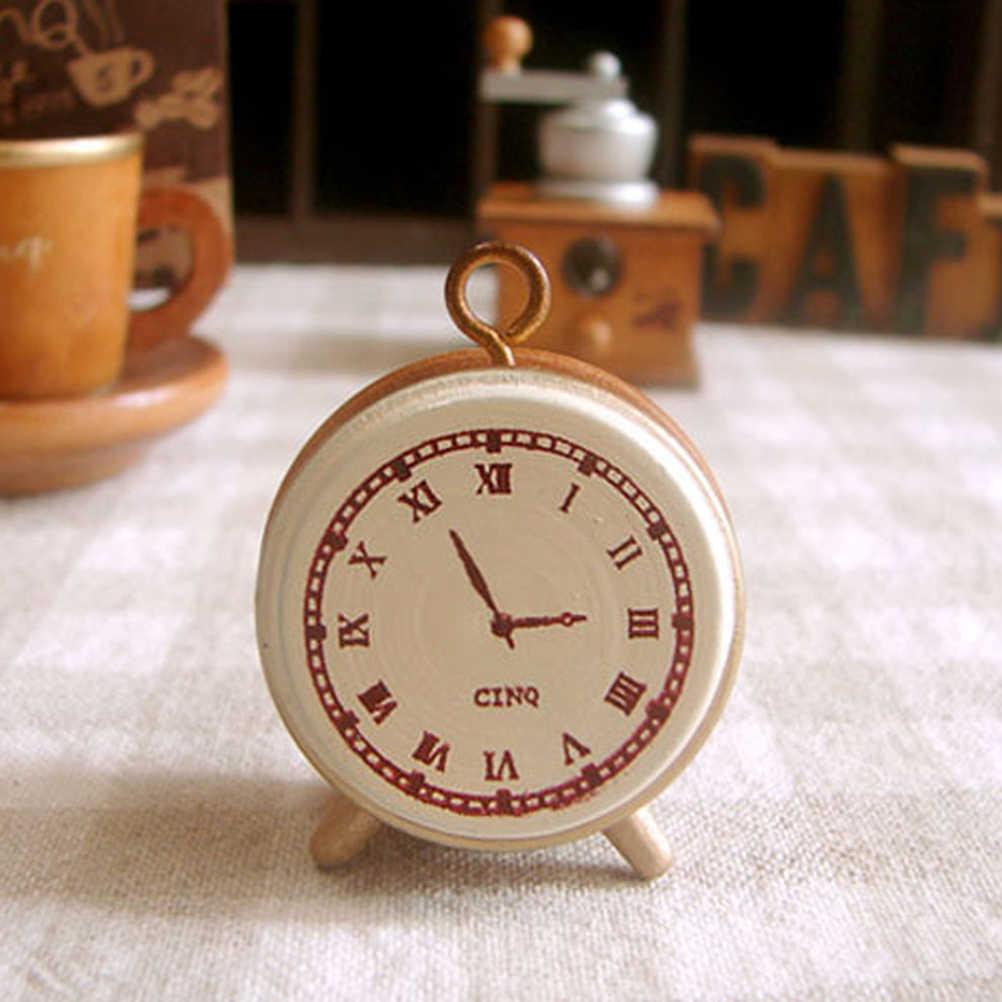 1 قطعة صغيرة ساخنة خمر ختم ساعة DIY بها بنفسك خشبية المطاط Stamps ل سكرابوكينغ القرطاسية سكرابوكينغ ختم القياسية