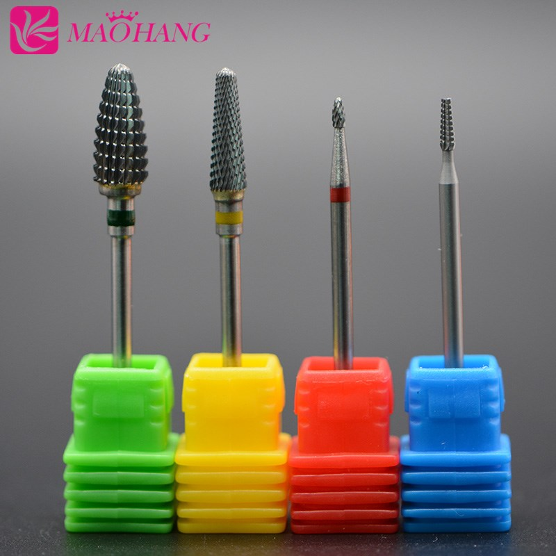 MAOHANG Carbide Nail Drill Bit For Pedicure Machine Electric Bits Manicure Mill Cutter Nail Tools Remove Acrylic Gel Nail Polish