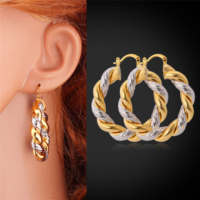 Collare Hoop Earrings Fashion Jewelry Gold Color Whole Unique Design Round For Women Gift