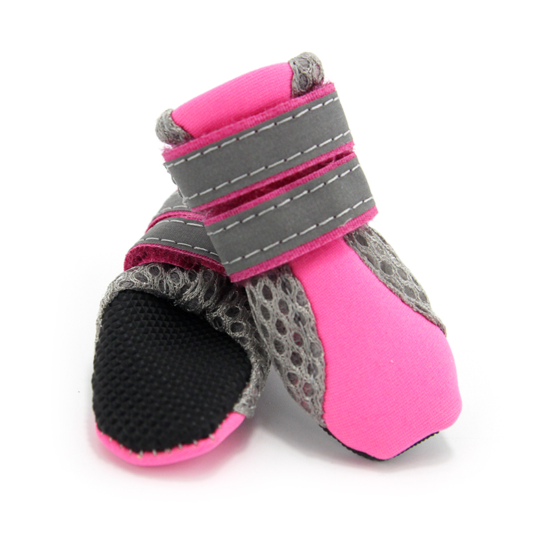 2018 New Dog Shoes For Small Big Dogs Breathable Comfort Soft Fabric Anti-slip Sole Night Reflective Net Pet Shoes 103