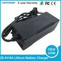 29.4 V 3A/4A/5A de Litio tipo eléctrico y uso nimh batería 24 v cargador de batería