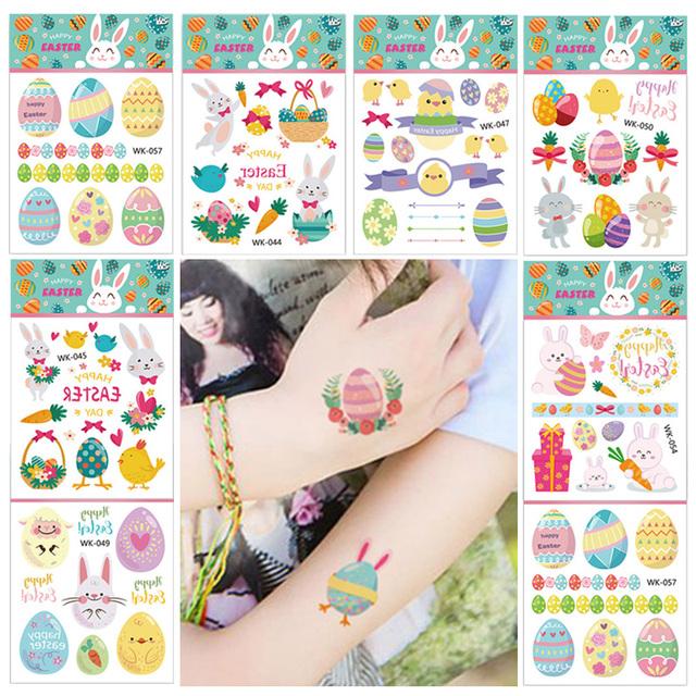 Easter Egg Tattoo Sticker -Easter Decor Items