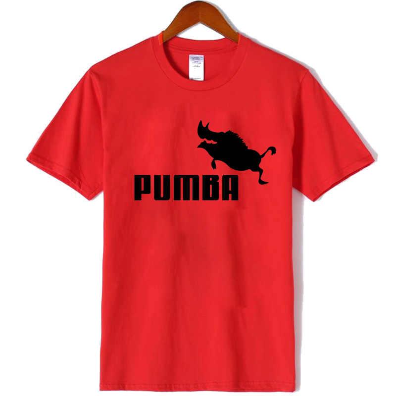 女性新ブランド tシャツ Pumba プリント女性半袖 tシャツ 100% コットンガールサマーカジュアル tシャツプラスファッション