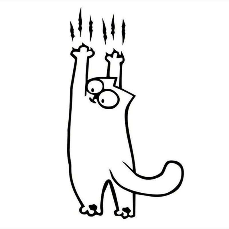 Рисунок смешного кота саймона