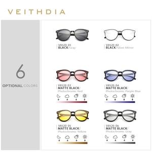 Image 4 - VEITHDIA מותג Photochromic נשים במראה משקפי שמש עדשת בציר יום הלילה כפול שמש משקפיים נשי עבור נשים V8520