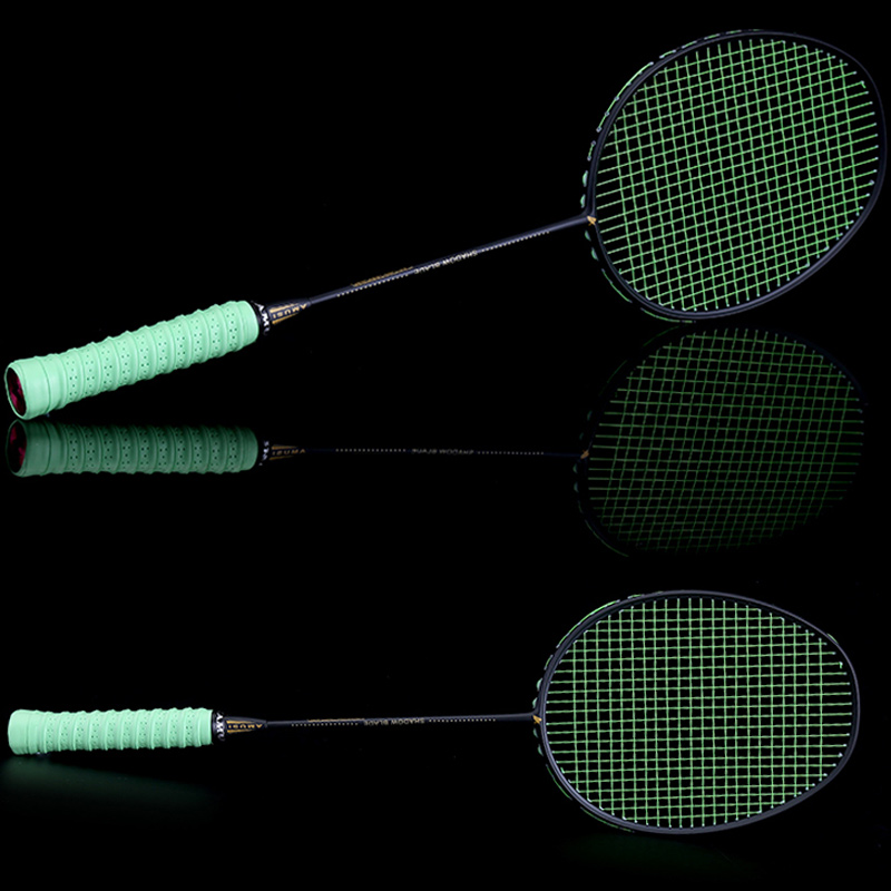 Graphite Single Badminton Racquet Professional Carbon Fiber Badminton Racket With Carrying Bag DX88