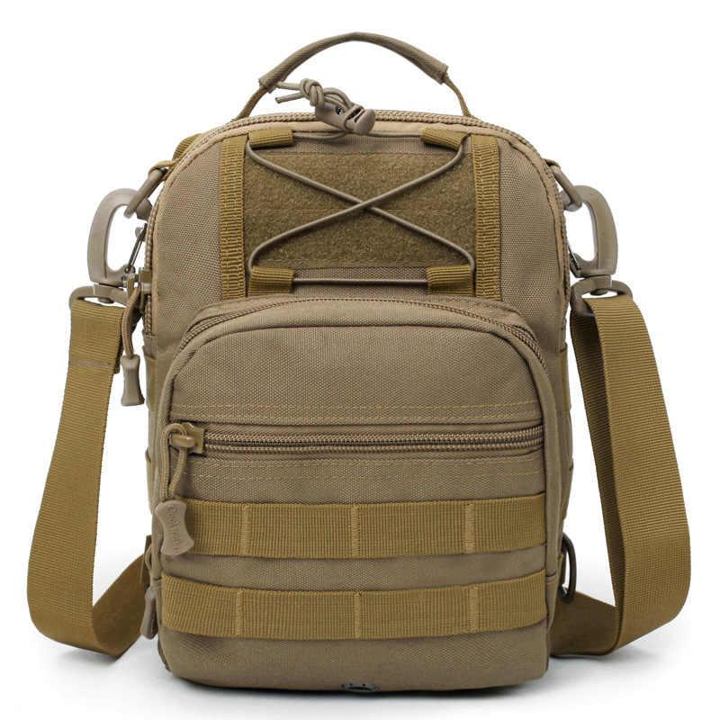 8e0431925e8f Открытый Тактические Груди Сумка камуфляж спортивные сумки  водонепроницаемый нейлон для верховой езды карманы многофункциональный  военный рюкзак
