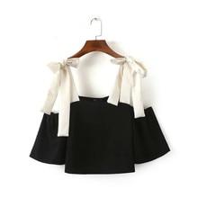 2017 Plus Size Female Crop Tops Women Chiffon Blusa Off Shoulder Cropped Feminino Tank Top Halter Sexy Sweatshirt Sweet Bralette