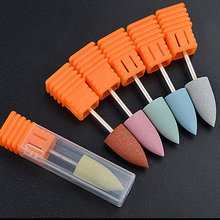 цены 1PC Head Rubber Silicon Nail Drills Bit Flexible Polisher Manicure Machine Nail Accessories Nail File Polish Tools