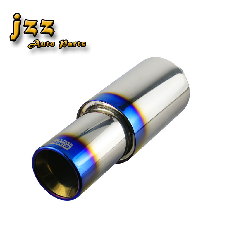 KIMISS Exhaust Tip Carbon Fiber Car Modified Exhaust Pipe Rear Tip Tail Throat Universal 54-89mm