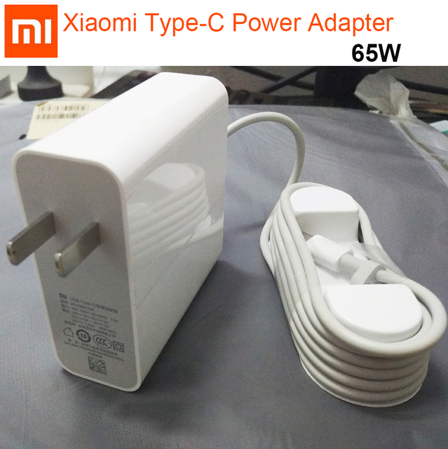 Original Xiaomi USB C Power Adapter 65W Type C type c Port Quick Charger Mi Notebook Air pro 15.6 Power Adapter PD 2.0 20V 5V