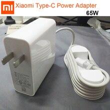 محول الطاقة الأصلي شاومي USB C 65 واط نوع C نوع c منفذ شاحن سريع Mi دفتر الهواء برو 15.6 محول الطاقة PD 2.0 20 فولت 5 فولت