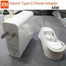 オリジナルシャオ mi USB C 電源アダプタ 65 ワットタイプ C タイプ c ポート急速充電器 mi ノートブック空気プロ 15.6 電源アダプタ PD 2.0 20 V 5 V