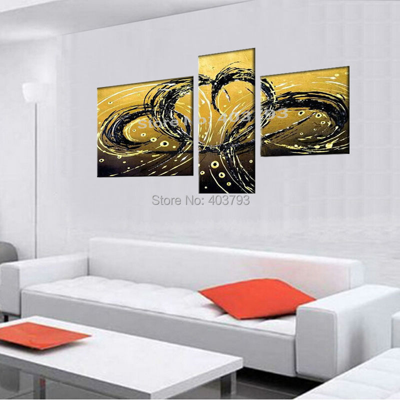 MODERN ABSTRACT HUGE LARGE CANVAS ART OIL PAINTING abstract Double phoenix fly no framed in Painting Calligraphy from Home Garden