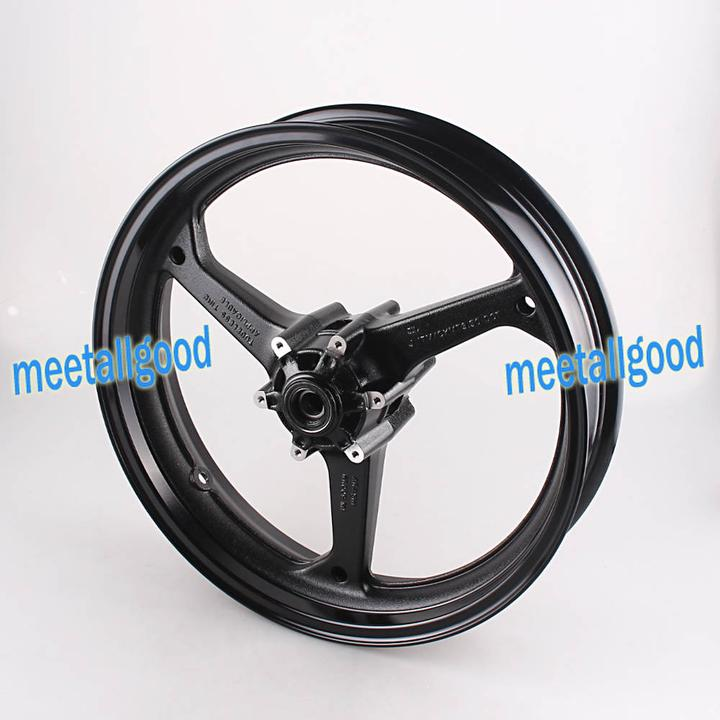 Motorcyle Alloy Front Wheel Rims For Honda CBR600RR CBR 600RR 2007 2008 2009 2010 2011 2012 CBR 600 RR Rims Matt Black 100% fit motorcycle fairings for honda cbr 600rr 09 10 11 cbr 600 rr rothmans blue fairing kits 2009 2010 2011 cbr600rr 7gifts