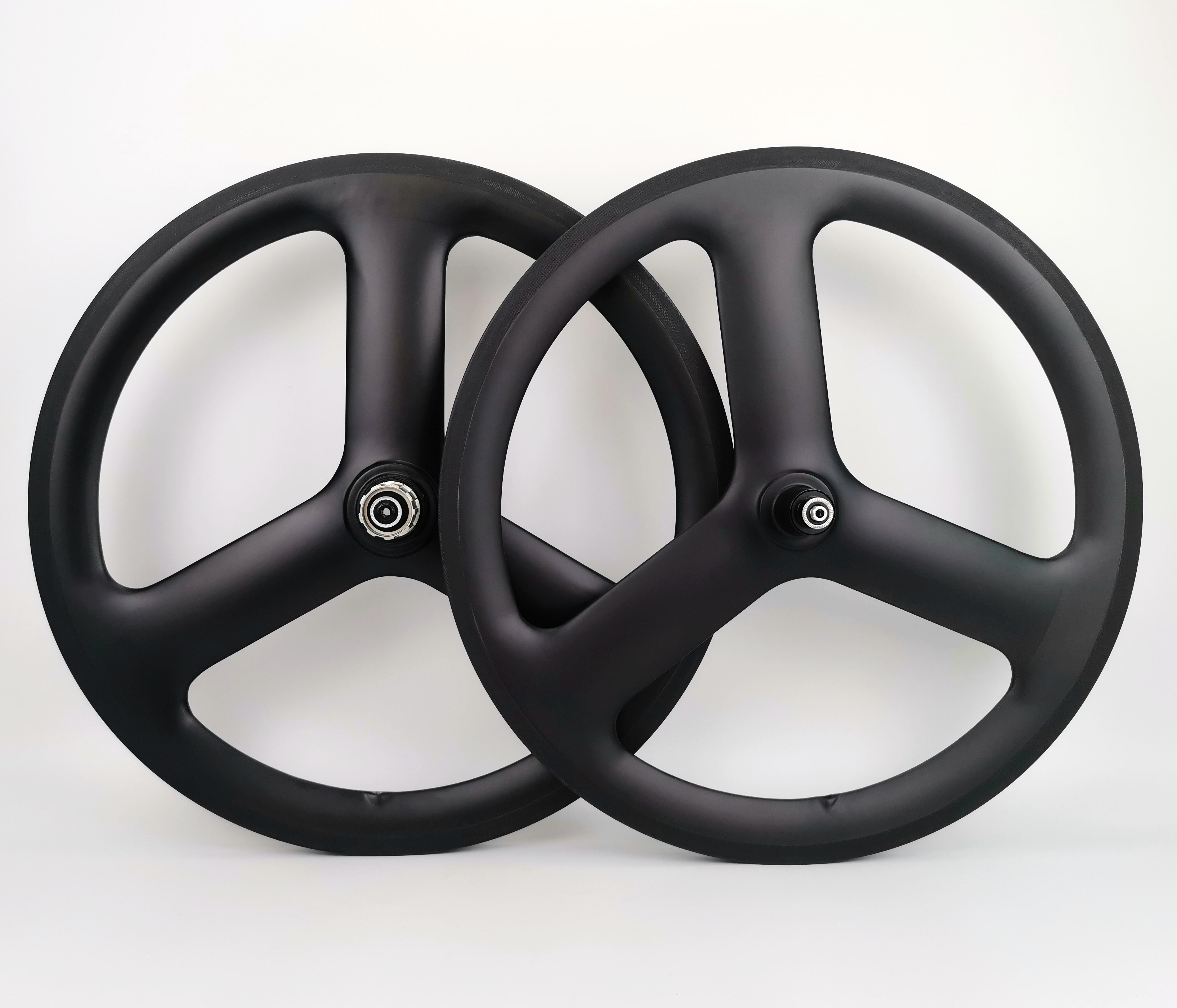 20 inch Full carbon 3 Spokes 23mm width Clincher bicycle wheels 451 tri spoke carbon wheelset