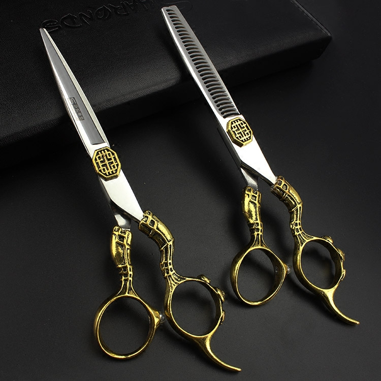 6 Inch High Quality Hair Scissors Set Professional Haircutting Shears Barber Tools Salon Products For Hairdresser Free Shipping 6 inch professional barber kit hairdressing scissors hair clipper haircutting shears for hairdresser free shipping 6 design
