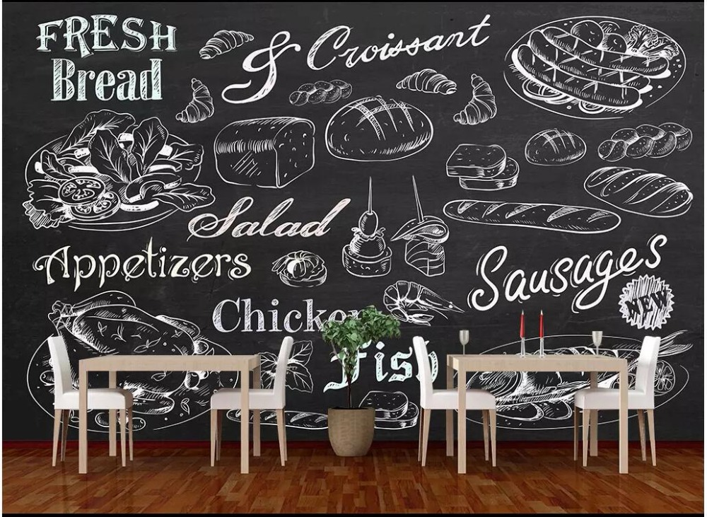 Custom photo mural 3d wallpaper Hand painted bread restaurant cafe tv background home decor living room wallpaper for walls 3 dCustom photo mural 3d wallpaper Hand painted bread restaurant cafe tv background home decor living room wallpaper for walls 3 d