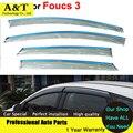car styling Window Visors For Foucs 3 Sedan Hatchback 2012 2013 2014 2015 Sun Rain Shield Stickers Awnings Shelter
