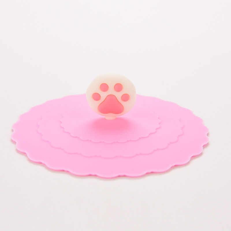 1pc Silicone Cup Cover Lovely Anti-dust Fruit Cup Cover Leakproof Coffee Cups Lid Cap Airtight Sealed Cup Covers