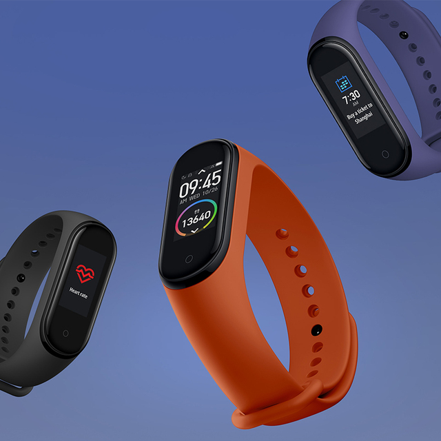 Xiaomi Mi Band 4 Smart Band Fitness Tracker All Watches Watches & Eyewear Xiaomi color: Add 2PCS film|Band 4 add blue|Band 4 add green|Band 4 add orange|Band 4 add pink|Band 4 add purple|Band 4 add red|Band 4 add sky blue|Band 4 add white|Band 4 add wine red|Band 4 add yellow|BLACK