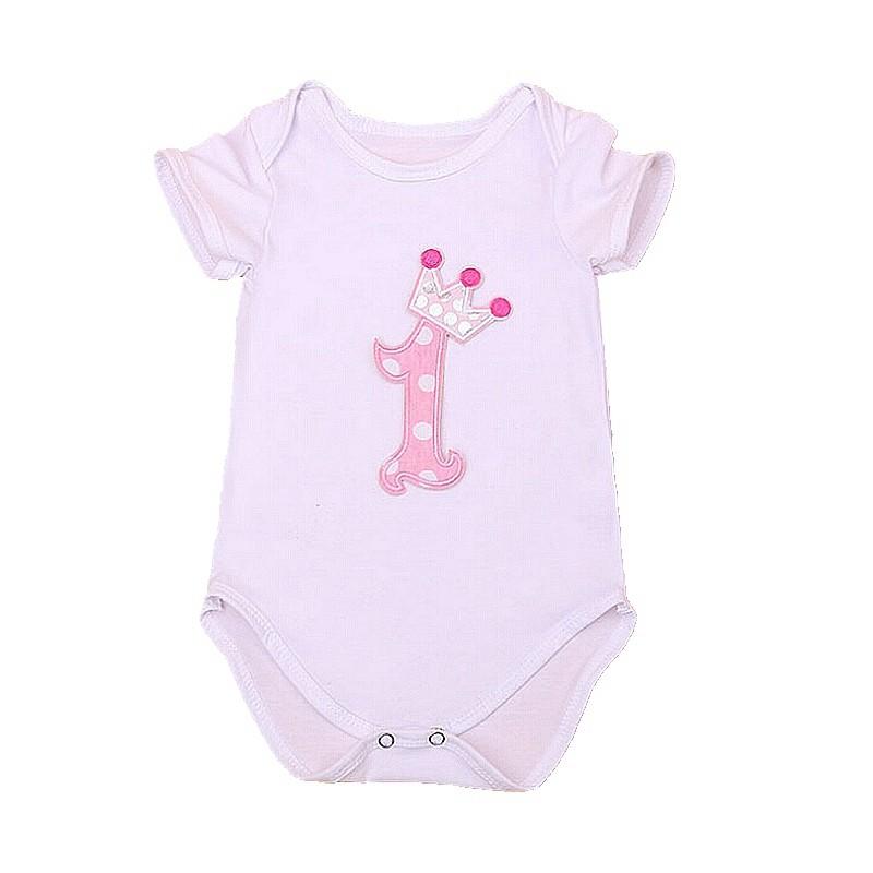 Crown-Bodysuit-Baby-Girl-1St-Birthday-Outfit-Bodysuite-Macacao-Vetement-Bebe-Fille-Recem-Nascido-Vetement-Enfant
