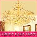 110В-220В Роскошная золотая хрустальная люстра  Современная K9 Светодиодная лампа для гостиной  люстры для домашнего освещения  E14 лампы