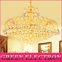 110V 220V Luxury Gold Crystal Chandelier Modern K9 LED Living Room Light Lustres De Cristal Indoor