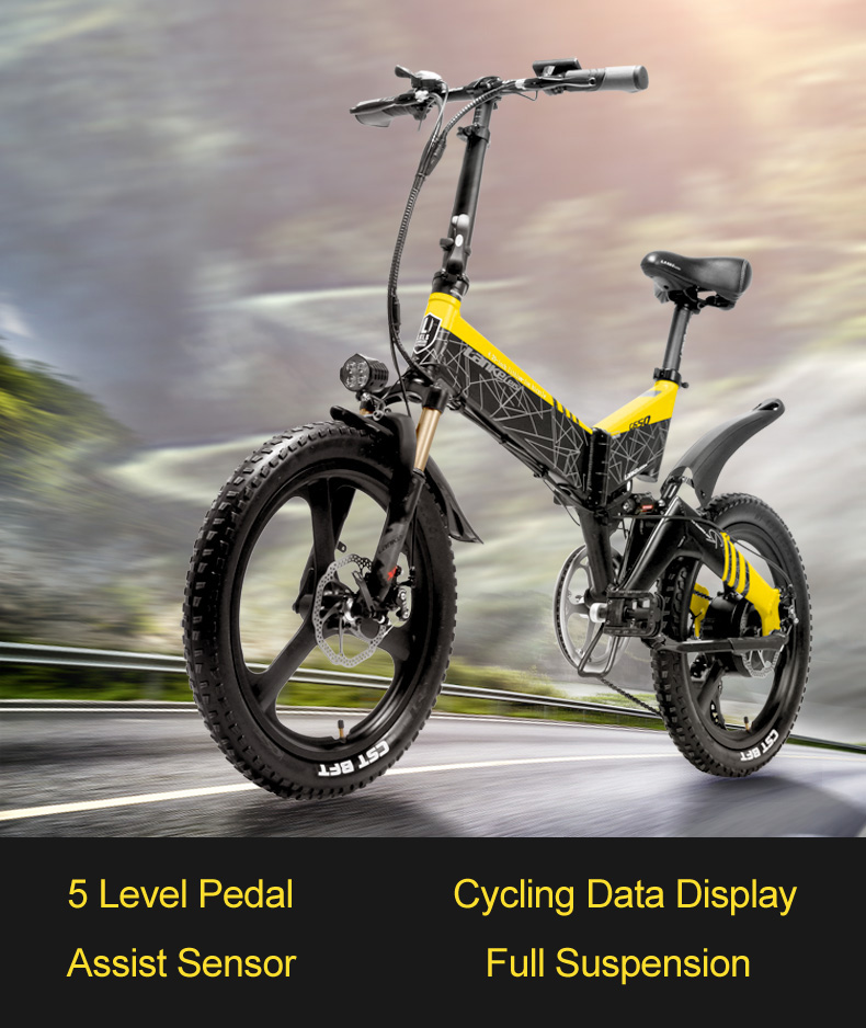 HTB1DHOGxbvpK1RjSZFqq6AXUVXa7 - G650 20 Inch Folding Electrical Bike 400W Motor 10.4Ah/14.5Ah Li-ion Battery 5 Degree Pedal Help Full Suspension Mountain Bike