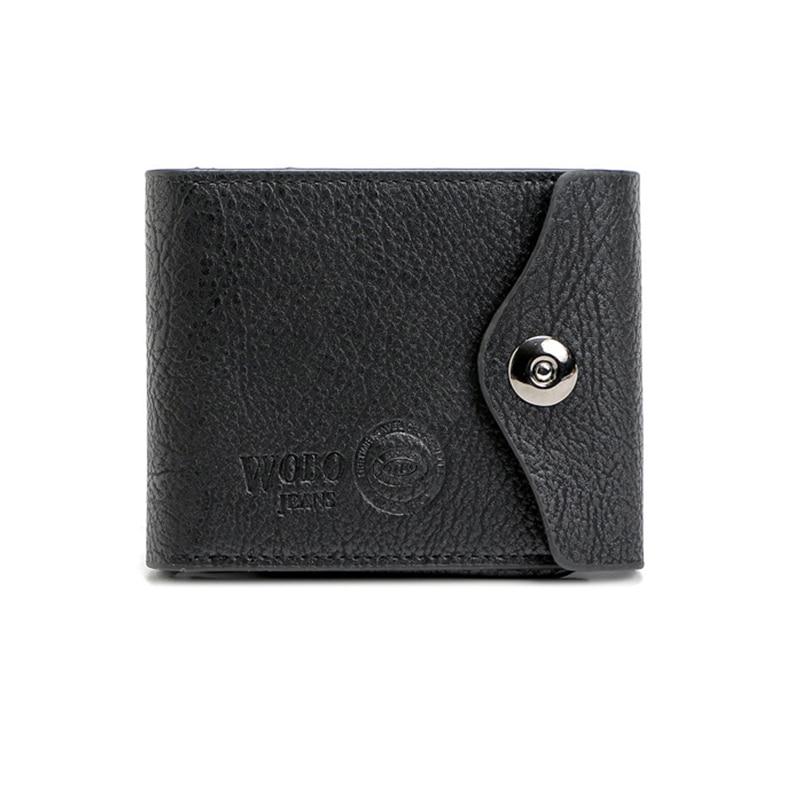 Men PU leather Wallet Short Purse Closure High Quality Big Capacity Money Bag Credit Crad Holders For Business Gentleman