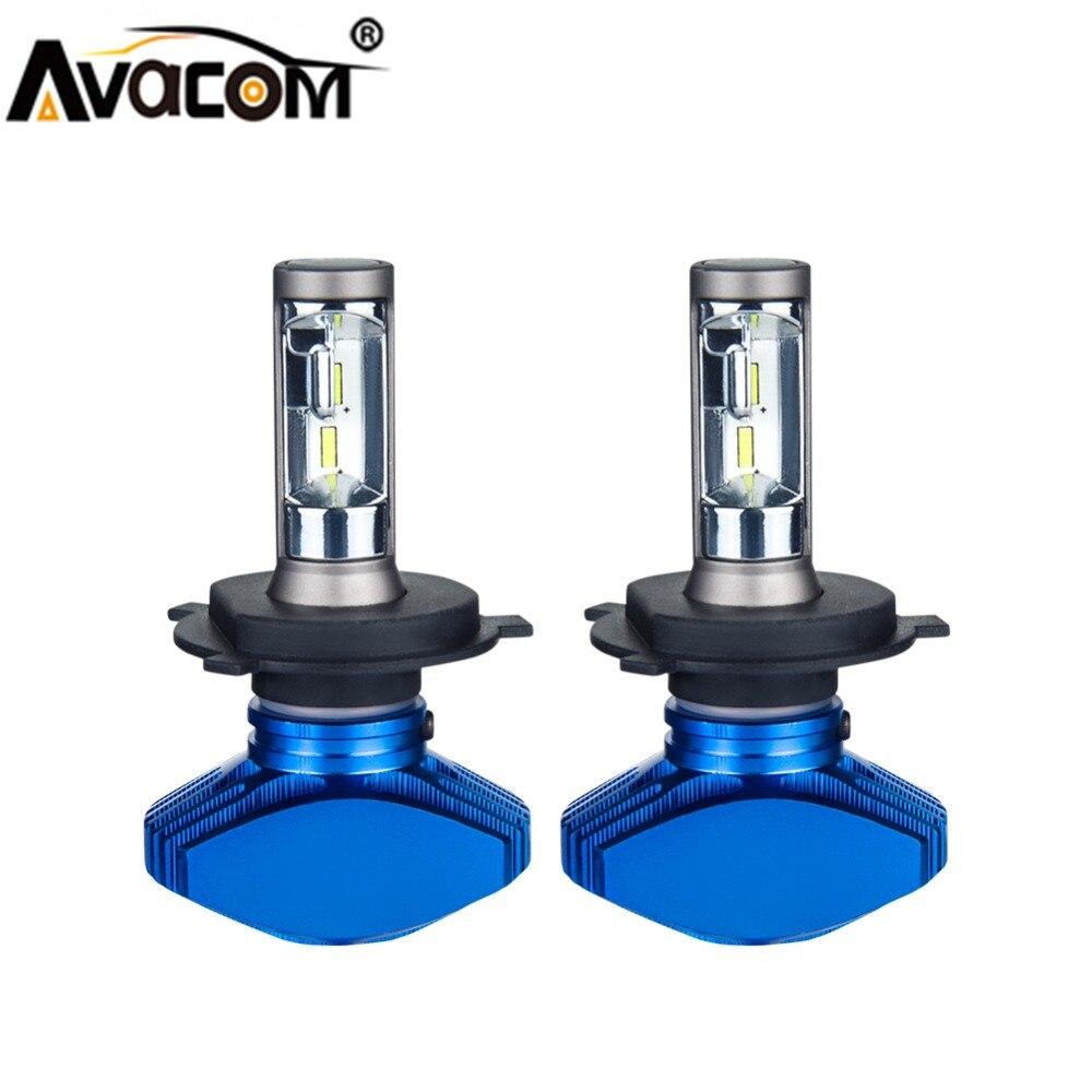 Avacom 2Pcs LED H1 H7 Kit Mini Car Bulb 12V Turbo H3 H4 9005/HB3 9006/HB4 HIR2 CSP 6500K White 80W 8000lm H4 H11/H8 LED Voiture