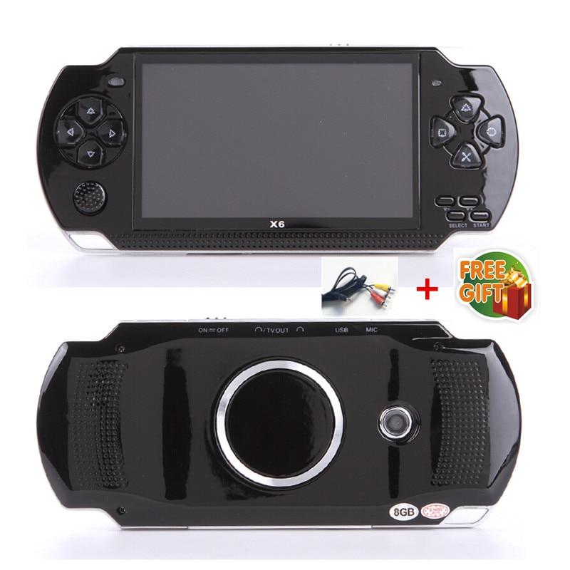 Freies Verschiffen Handheld-konsole 4,3 zoll bildschirm mp4-player MP5 spiel spieler reales 8 GB unterstützung für psp spiel, kamera, video, e-buch