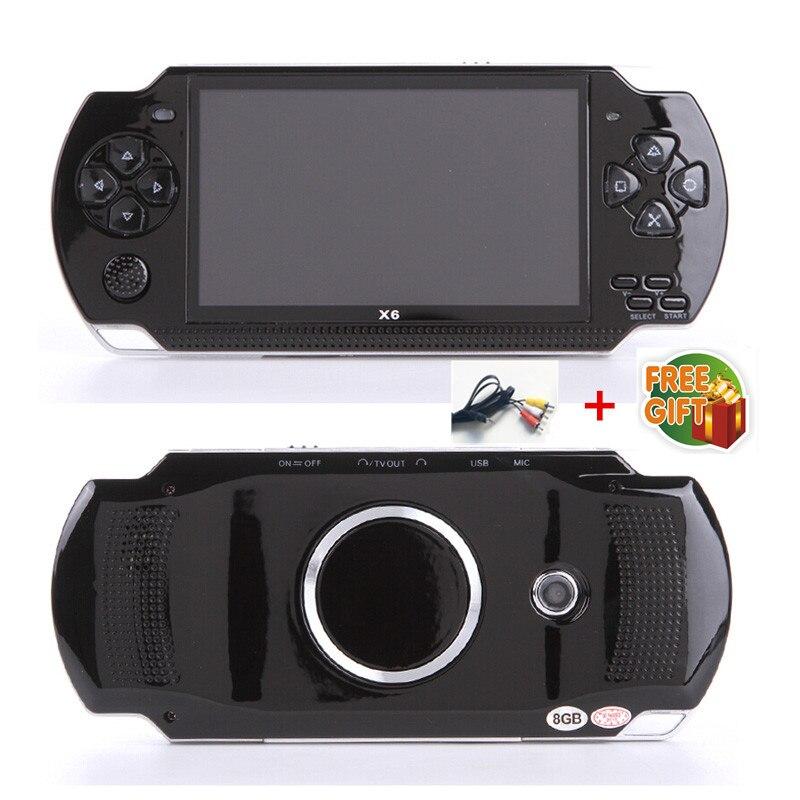 Livraison gratuite Console de jeu portable 4.3 pouces écran mp4 lecteur MP5 lecteur de jeu réel 8 GB support pour jeu psp, caméra, vidéo, e-book