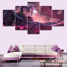 Anime Avenger Fate Grand Order HD Print Canvas Printed Home 5 Pieces Poster Painting Wall Art Living Room Artwork