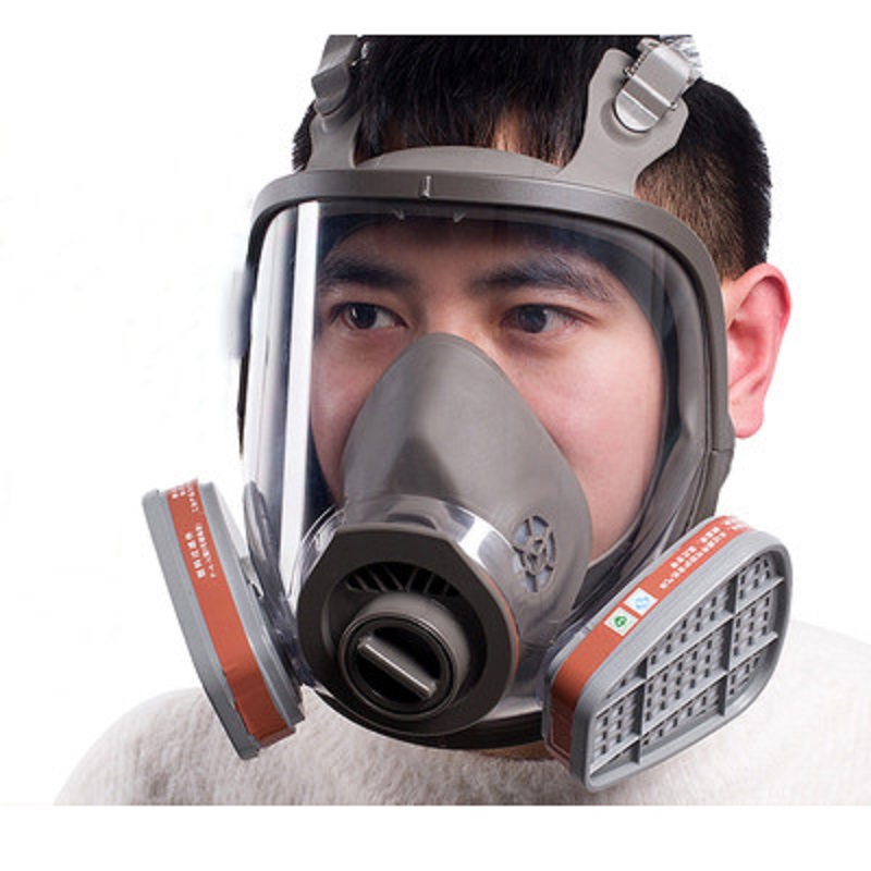 Image 4 - 6800 Full Face piece Gas Mask Respirator filters 2091 Chemical  Industrial Protective Spraying Paint Weld Lab Dust proofChemical  Respirators